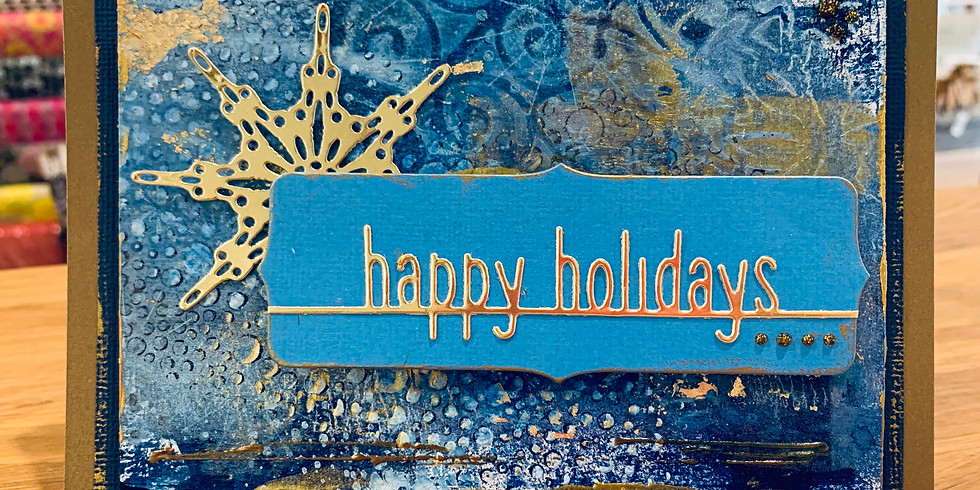 Online: Mixed Media Holiday Card