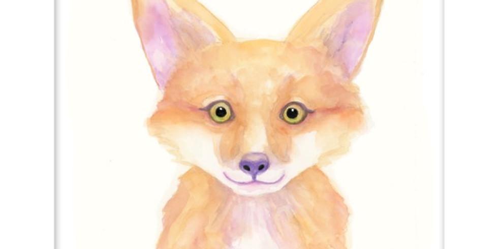 The Kit Fox: Beginner Adult Watercolor Class