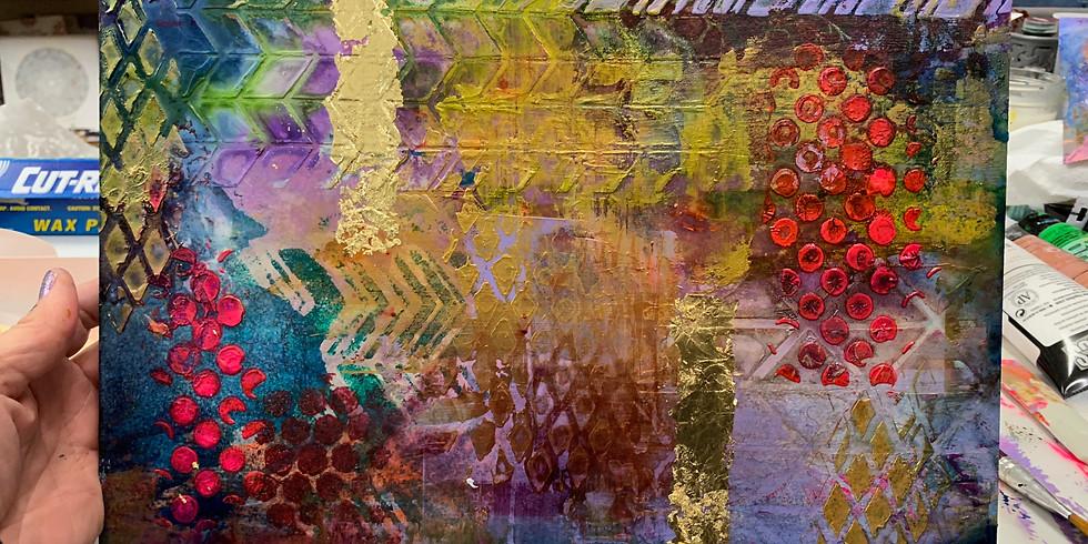 Mixed Media Art Panel