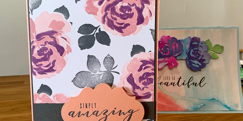 Altenew Fantastic Floral Fantasies card making (Reschedule!)
