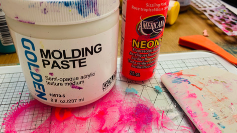 Molding Paste and Neon Pink