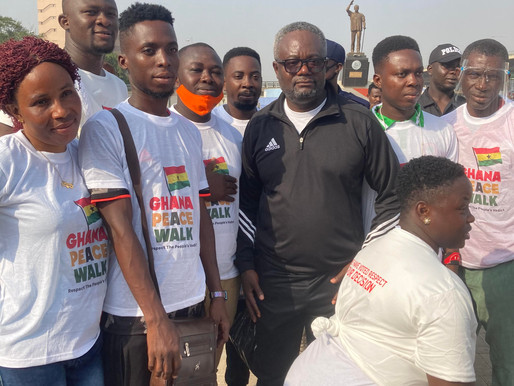 Young Liberals of Ghana Join Peace Walk