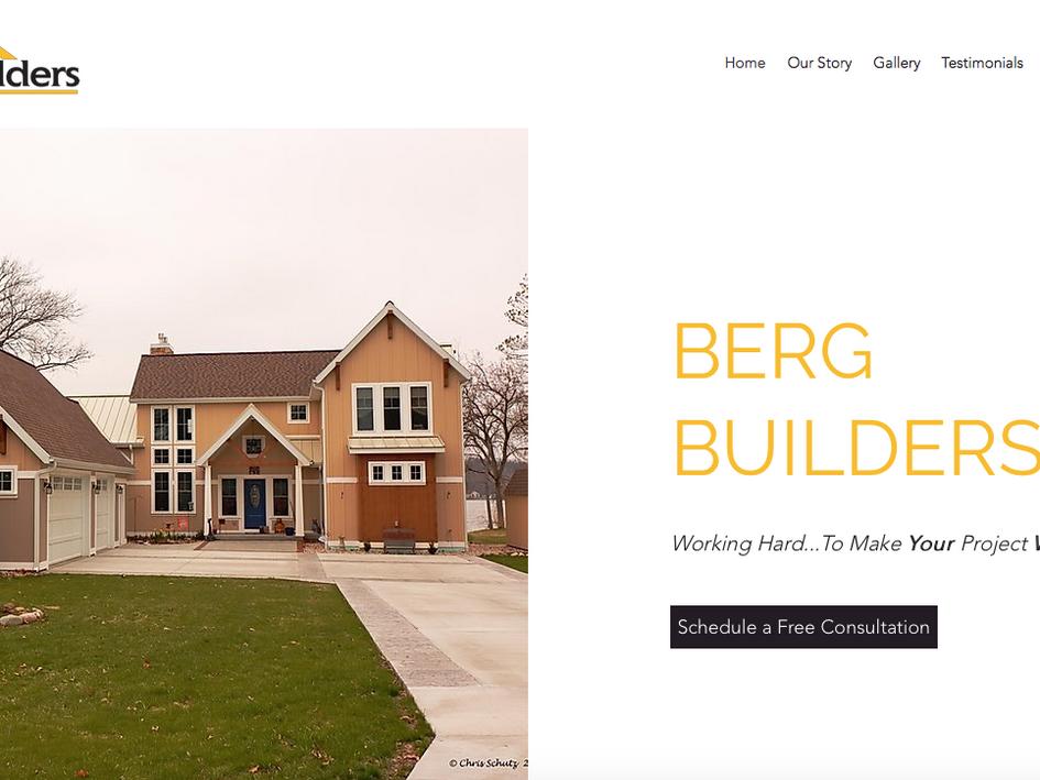 Berg Builders Website