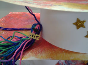 Alphabet Express graduation hat