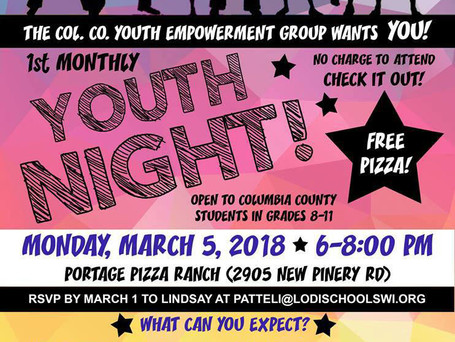 Poster for Youth Night