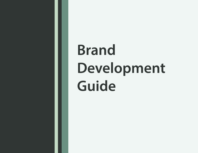 Sentience Brand Development Cover Page