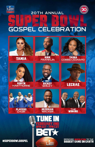20th ANNUAL SUPER BOWL GOSPEL CELEBRATION TO AIR ON BET NETWORKS ON SATURDAY, FEBRUARY 2, 2019 AT 8: