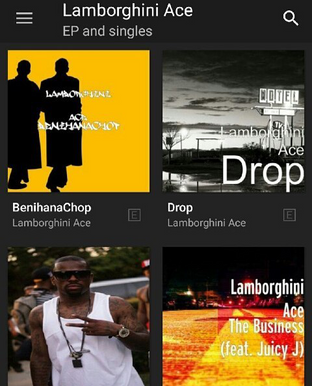 "LAMBORGHINI ACE ""THE BUSINESS"" FT. JUICY J DOWNLOAD ON ITUNES"