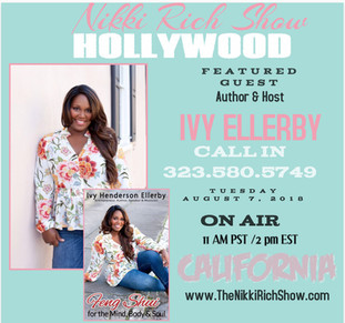 Author & Host Ivy Ellerby Live on The Nikki Rich Show 8.17.18