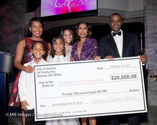 "Hill Harper, Mayor Kasim Reed, Dr. Jackie Waters attend the 5th "" 50 Shades Of Pink""  Fundraiser Fas"