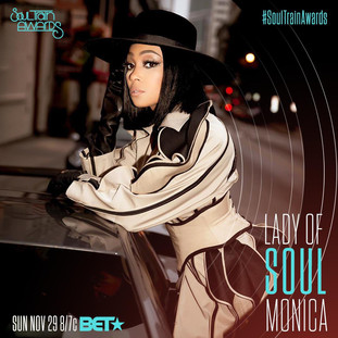 R&B SUPERSTAR MONICA TO BE HONORED WITH THE LADY OF SOUL AWARDAIRING SUNDAY, NOVEMBER 29TH AT 8 PM