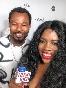 Nikki Rich with Former Pro Boxer Sugar S