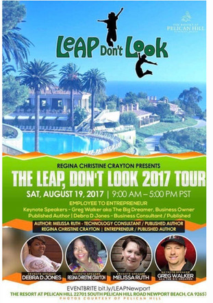 Dont Look 2017 Tour and book release is being held Saturday, August 19 at The Resort at Pelican Hill