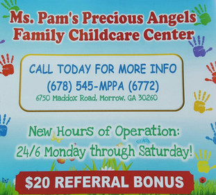 MS PAM'S PRECIOUS ANGELS FAMILY CHILDCARE CENTER