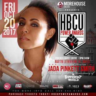 THE HBCU POWER AWARDS TO HONOR JADAPINKETT SMITH DURING SPELMAN-MOREHOUSE-CLARK ATLANTA HOMECOMING,