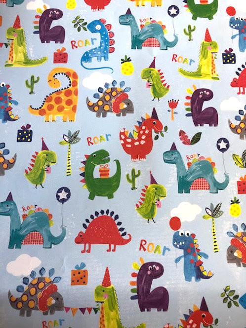 Dinosaurs Gift Wrap