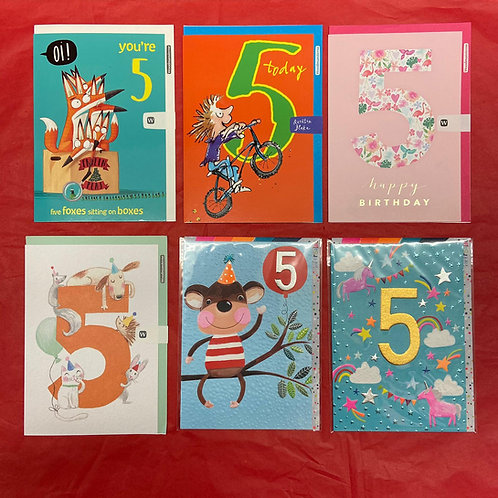 Ages Birthday Card - Five