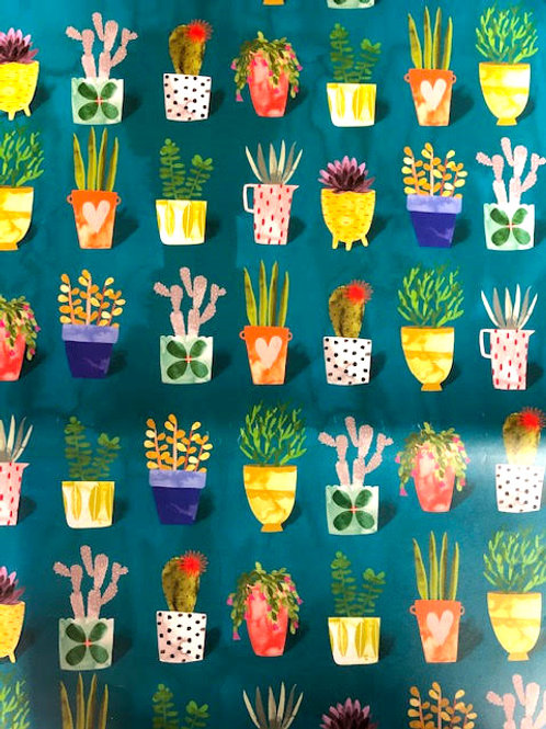 Potted Plants Gift Wrap