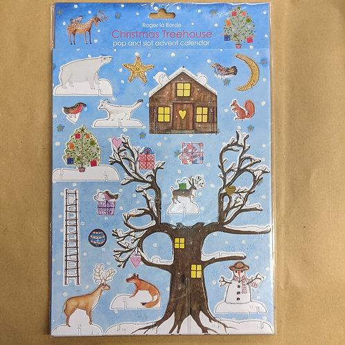 Jane Ray's Christmas Treehouse Pop & Slot Advent Calendar