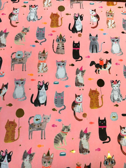 Cats and Kittens Gift Wrap