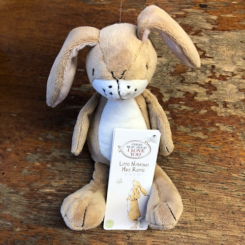 Little Nutbrown Hare Rattle Plush