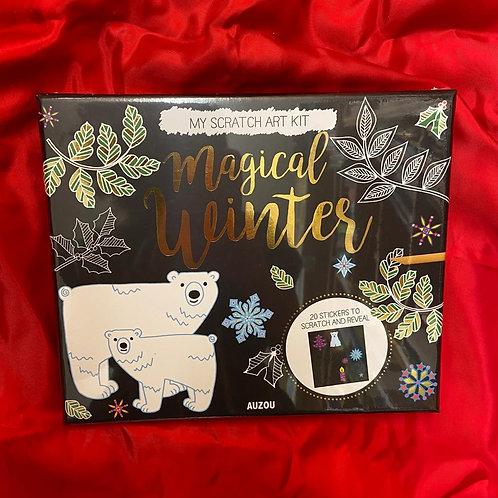 My Scratch Art Kit Box - Magical Winter   Auzou