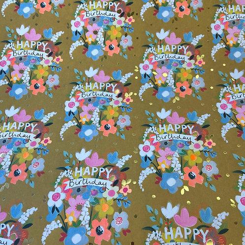 Birthday Bouquet Gift Wrap