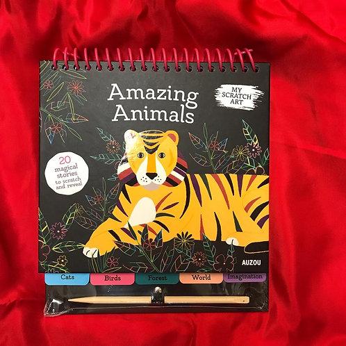 My Scratch Art Spiral Bound - Amazing Animal | Auzou