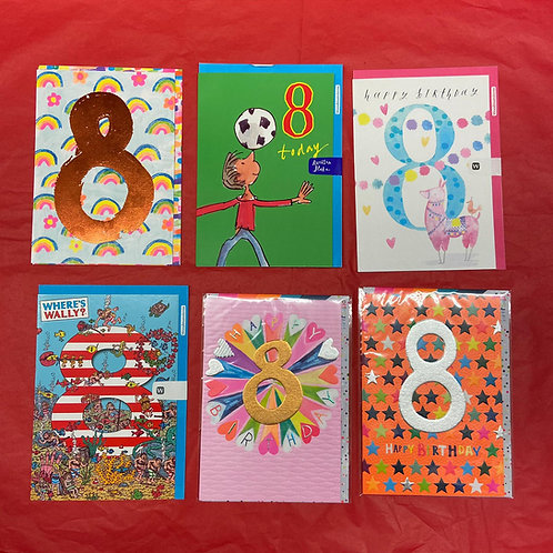 Ages Birthday Card - Eight