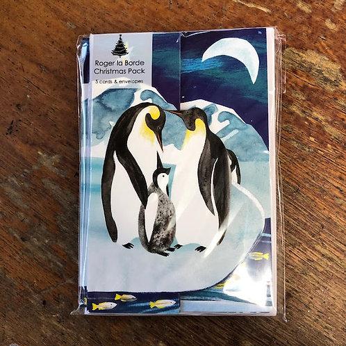 Tri Fold Penguin Card Pack