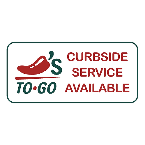 Curbside Service Available Sign