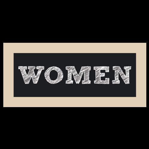 Women Restroom Chalkboard Style Sign