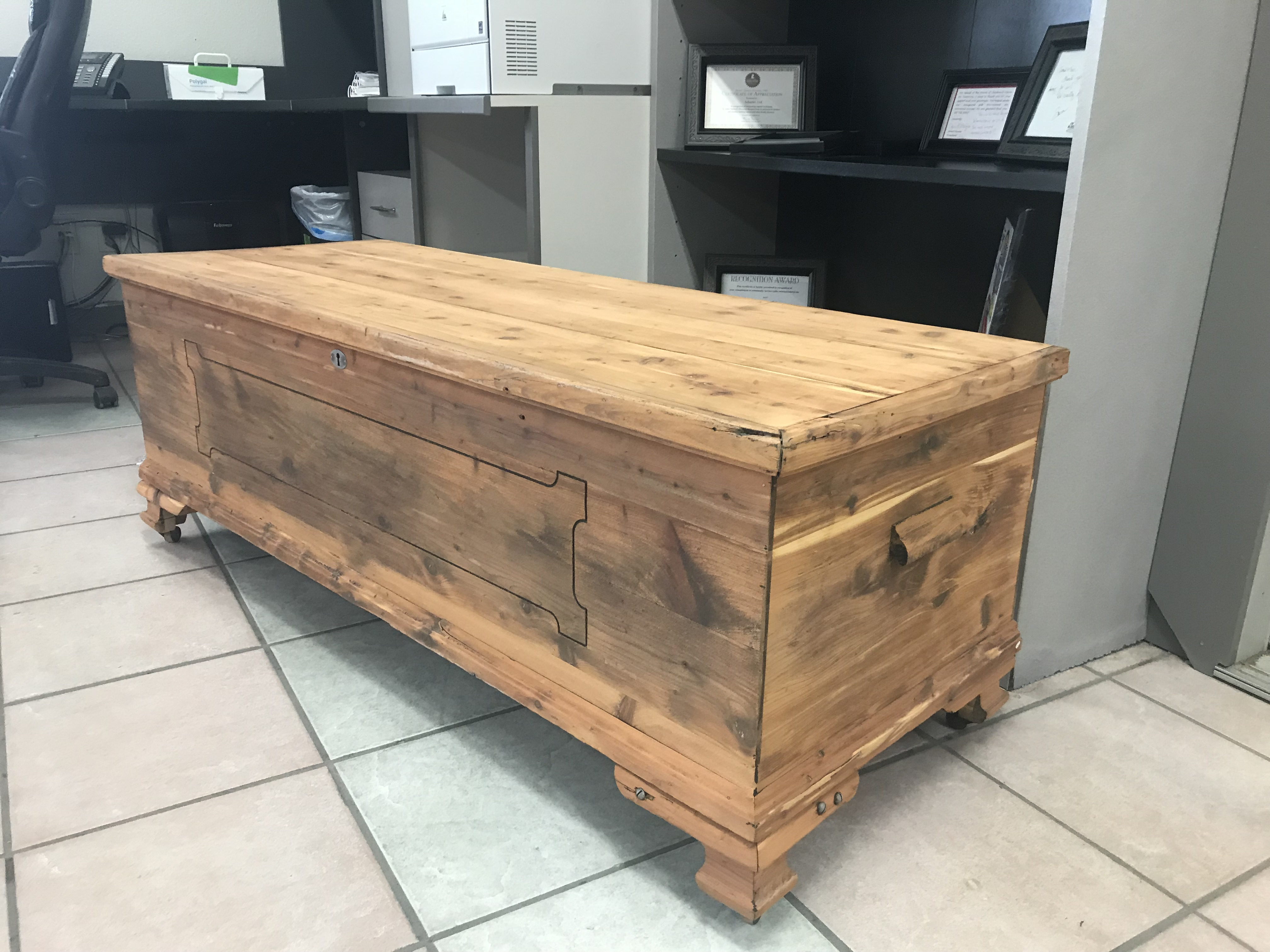 Wood Chest - After Blasting