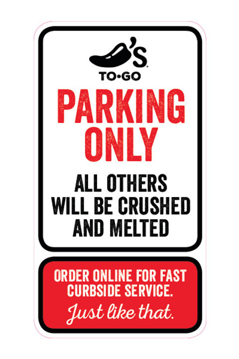To Go Parking Sign - for stores w/ app