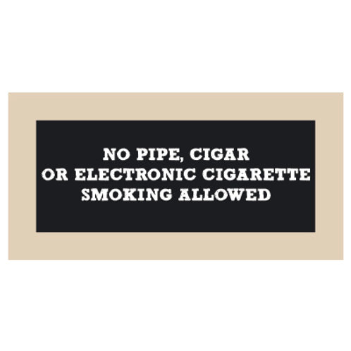 No Pipe, Cigar, or E-Cig Chalkboard Style Sign