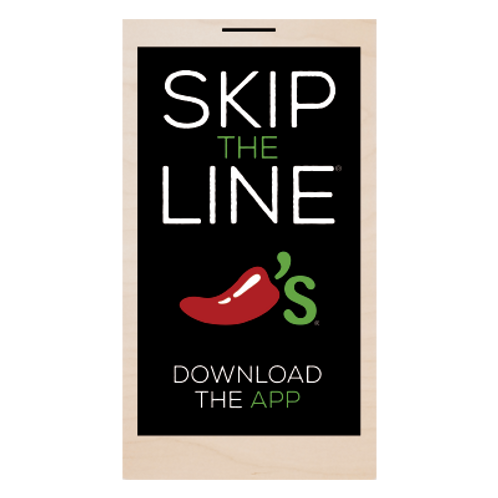 Skip the Line, Download the App Chalkboard Style Sign