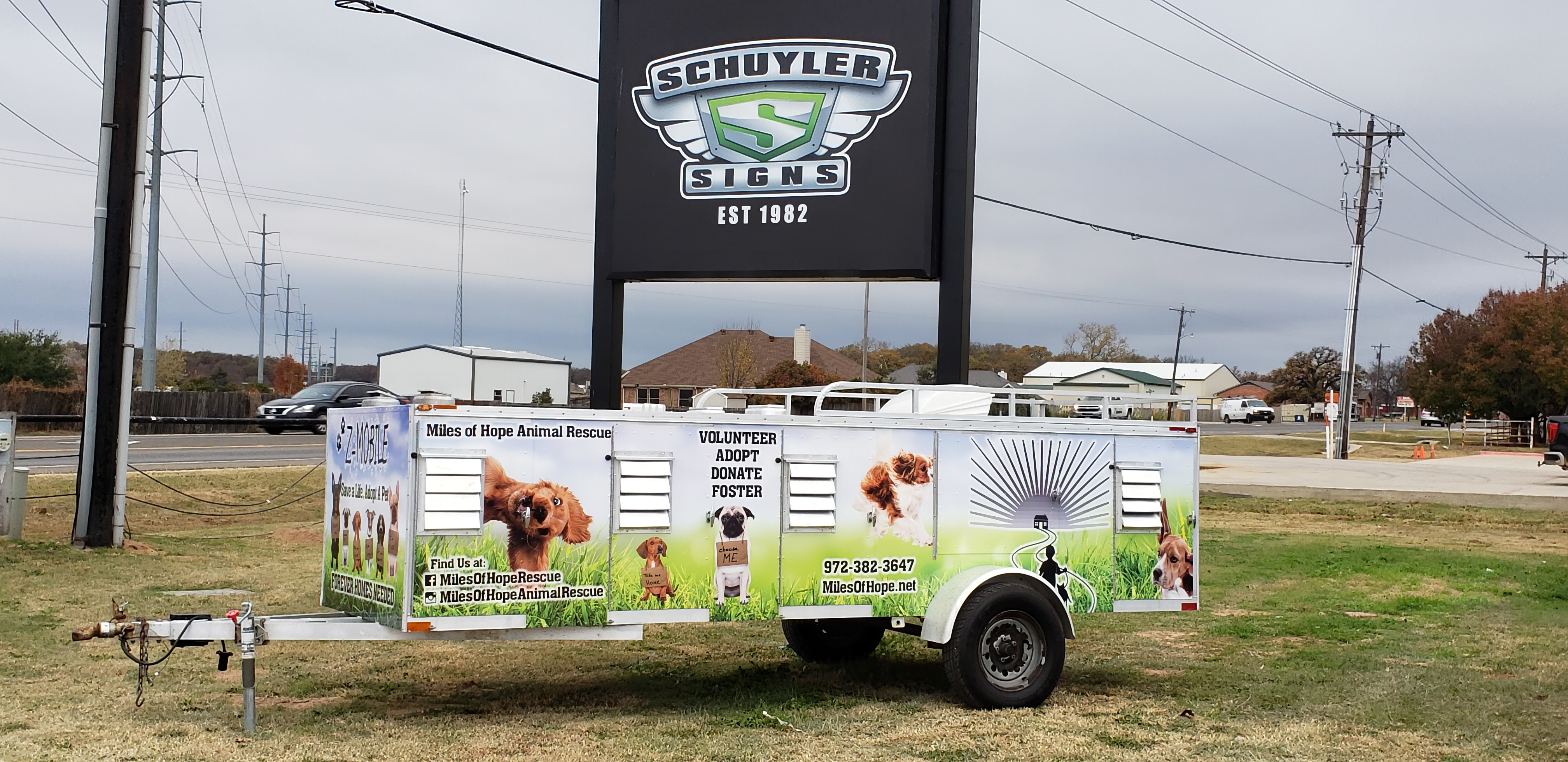 Custom Printed Trailer Wrap