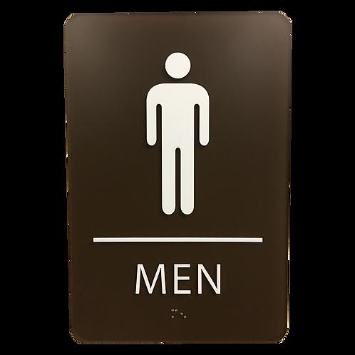 Brailltac Men Restroom Sign