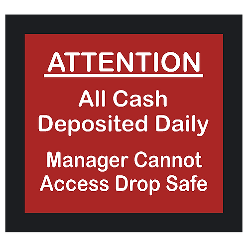 All Cash Deposited Daily Sign