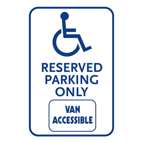 Handicap Reserved Parking Only - Van Accessible Sign