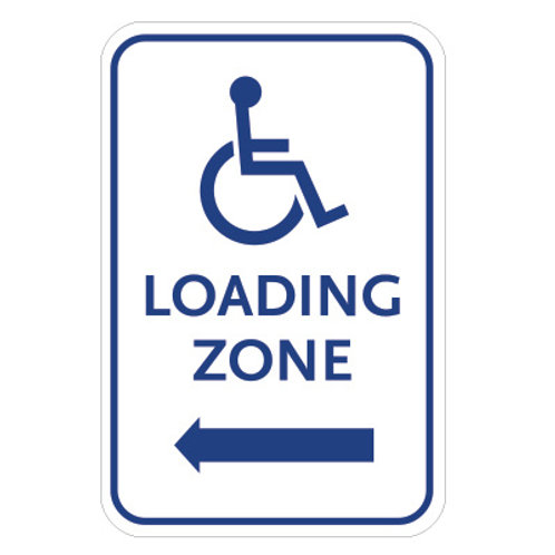 Handicap Loading Zone Sign