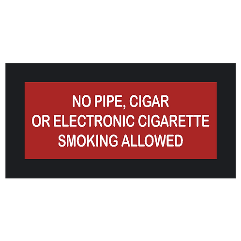 No Pipe, Cigar, or E-Cig Sign