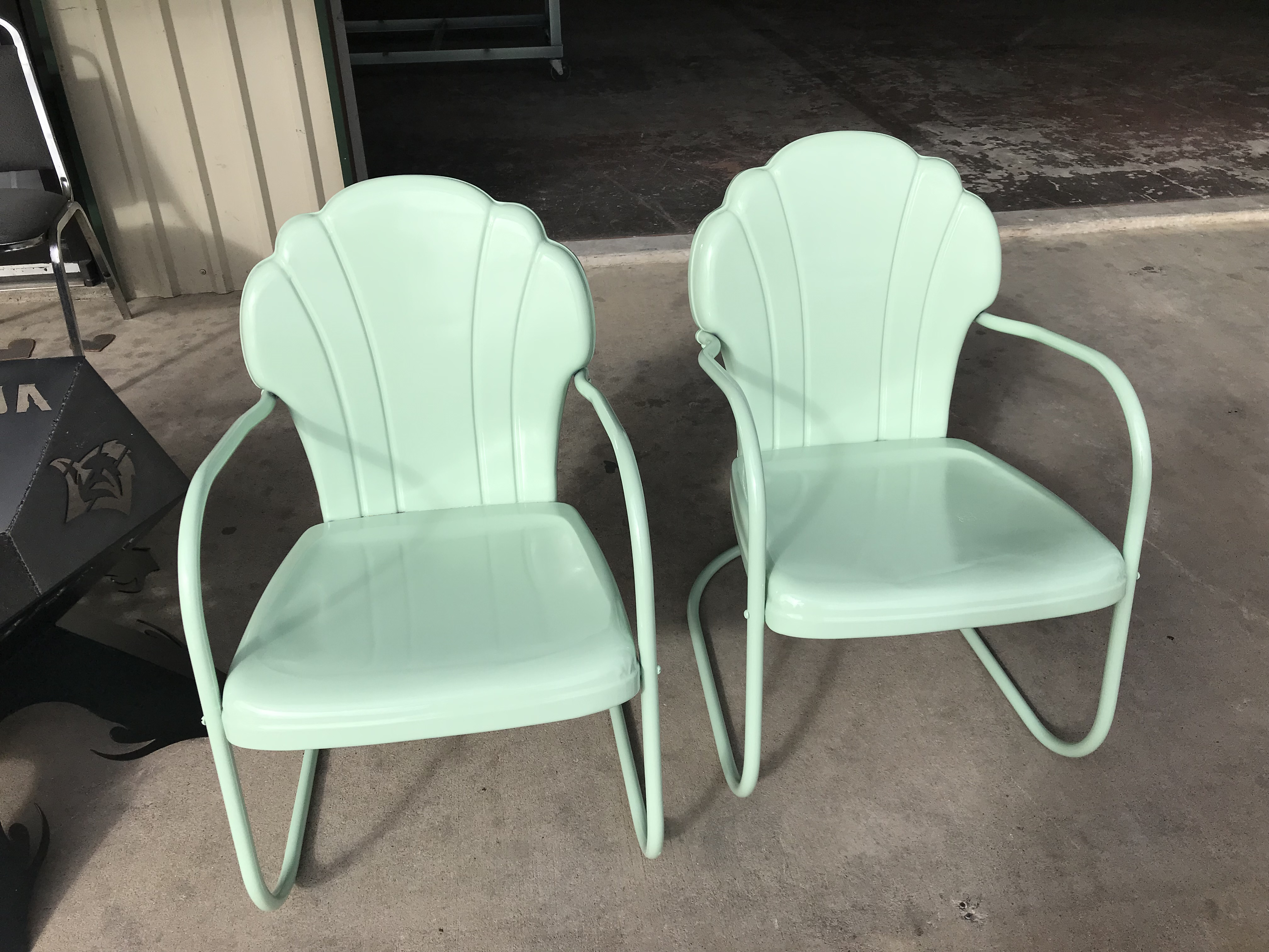 Antique Shell Back Chairs After
