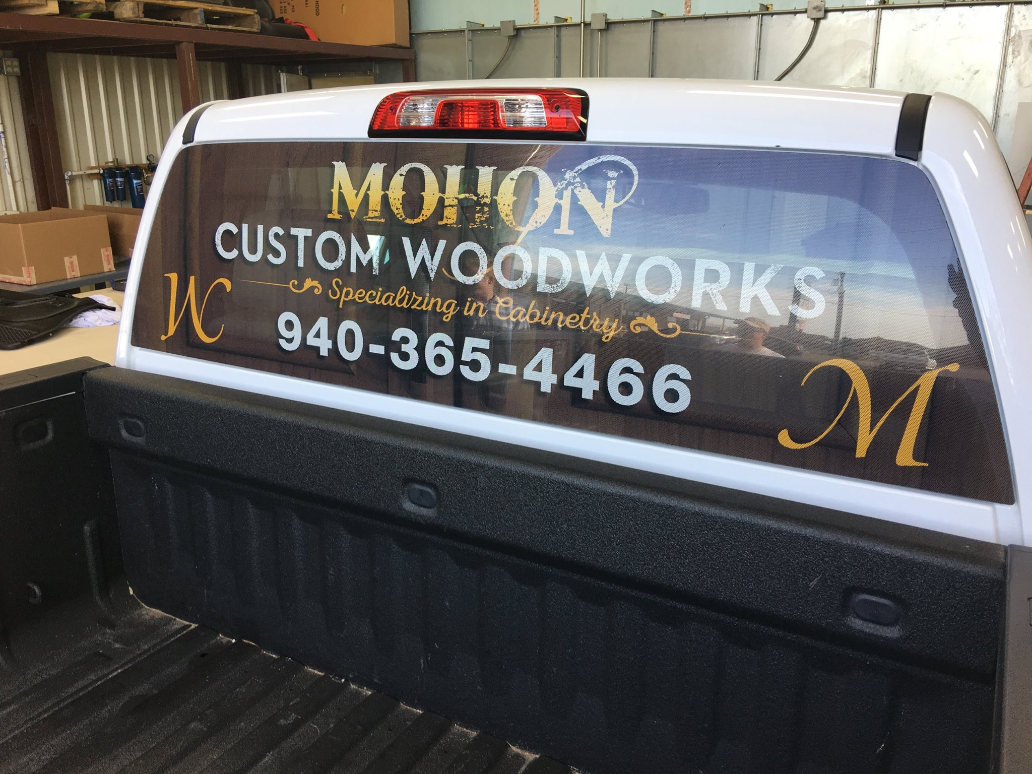 Custom Rear Window Perforation