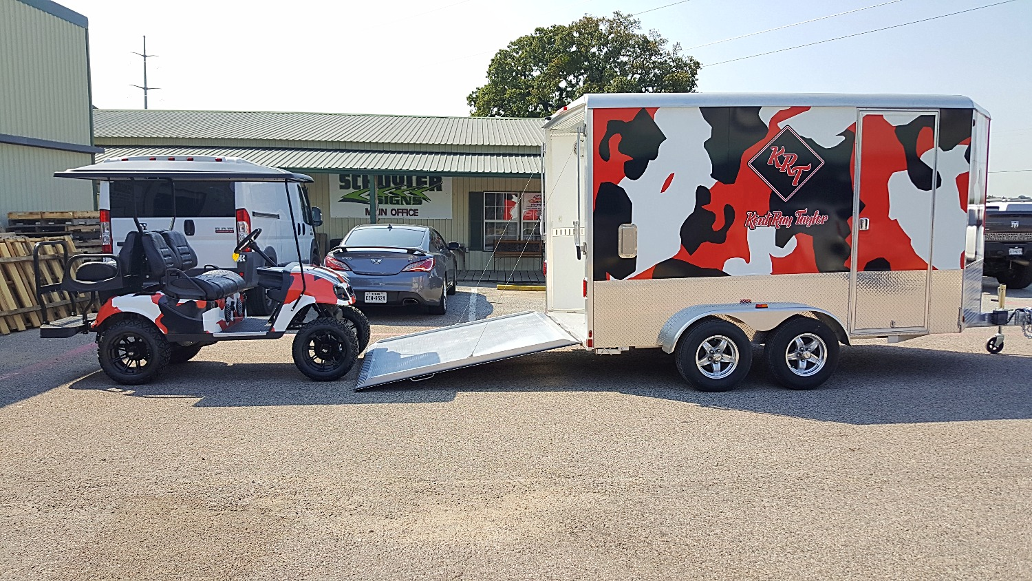 Custom Golf Cart & Trailer Wrap