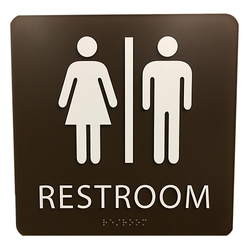 Brailltac Unisex Restroom Sign