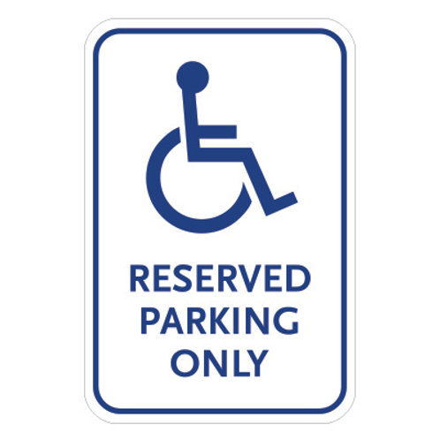 Handicap Reserved Parking Only Sign