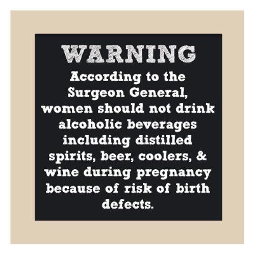 Surgeon General Warning Chalkboard Sign