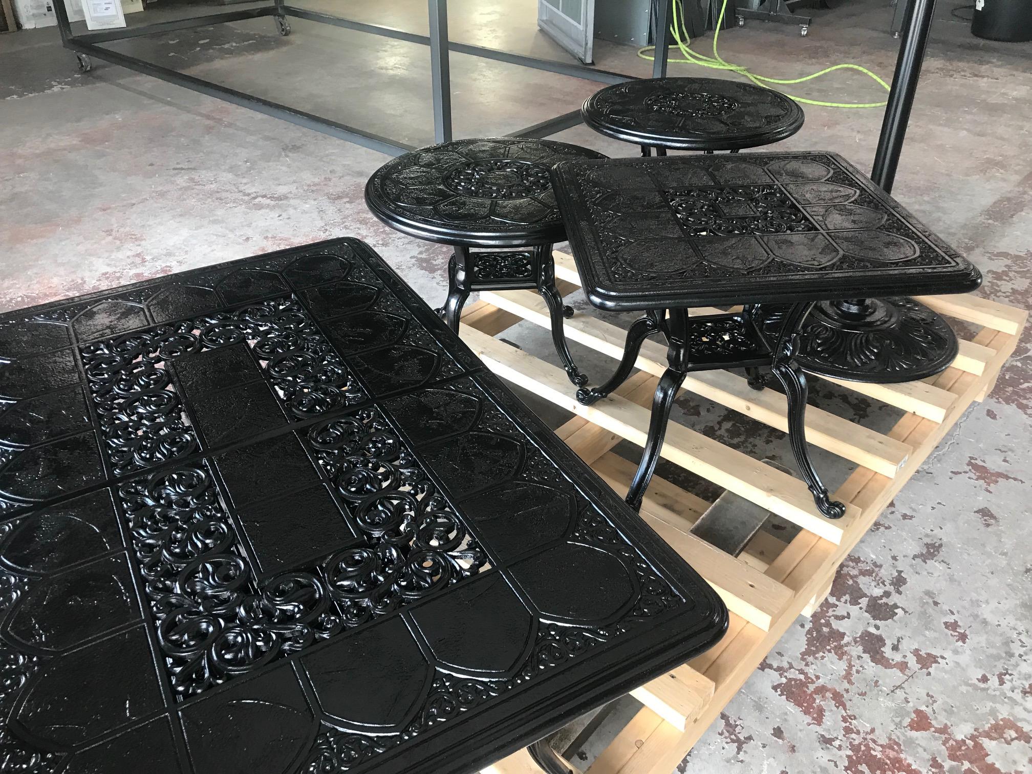 Patio Furniture - Satin Black
