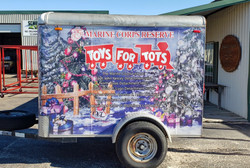 Custom Toy For Tots Trailer Wrap